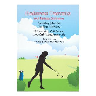 Invitation de golfeur de femme