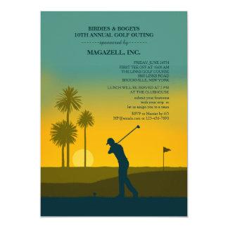 Invitation de golfeur de matin