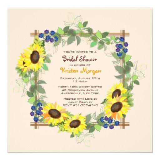 Invitation de jardin d'été