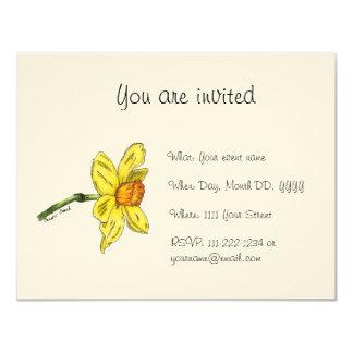 Invitation de jonquille (narcisse)