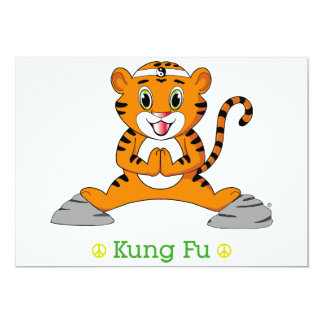 Invitation de Kung Fu Tiger™ Carton D'invitation 12,7 Cm X 17,78 Cm