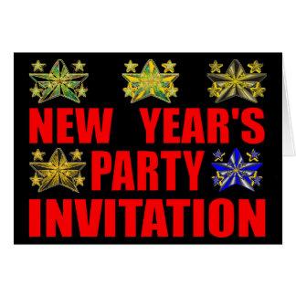 Invitation de la partie de nouvelle année carte de vœux