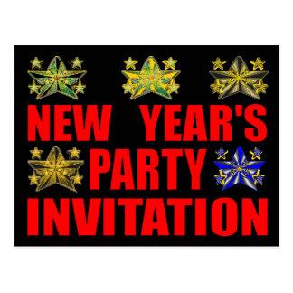 Invitation de la partie de nouvelle année cartes postales
