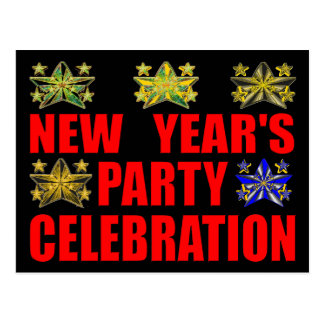 Invitation de la partie de nouvelle année carte postale