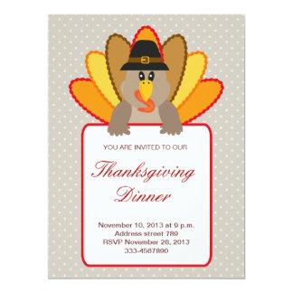 Invitation de la Turquie de thanksgiving