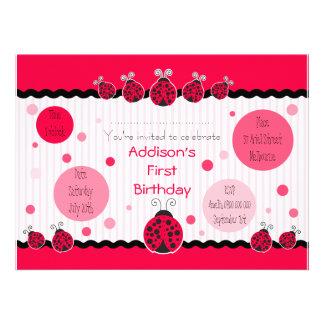 Invitation de Ladybird de coccinelle