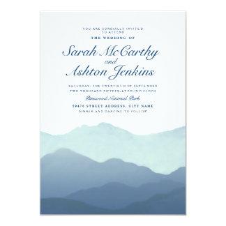 Invitation de mariage de chaîne de montagne