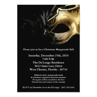 invitation de masque de boule de mascarade de Noël