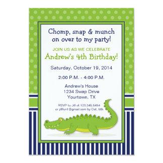 Invitation de partie d'alligator