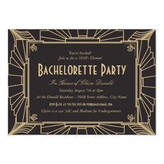Invitation de partie de Bachelorette de style Carton D'invitation 12,7 Cm X 17,78 Cm