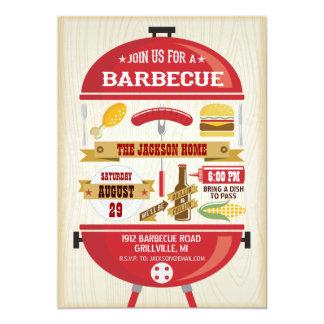 Invitation de partie de BBQ