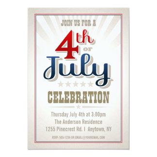 Invitation de partie de coutume 4 juillet