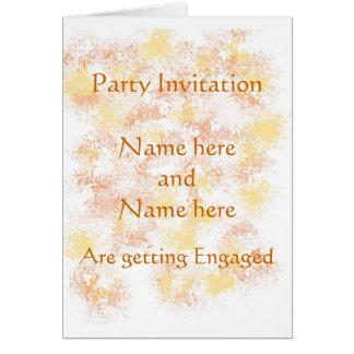 Invitation de partie de faire-part de fiançailles carte de vœux