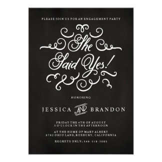 Invitation de partie de fiançailles d invitation