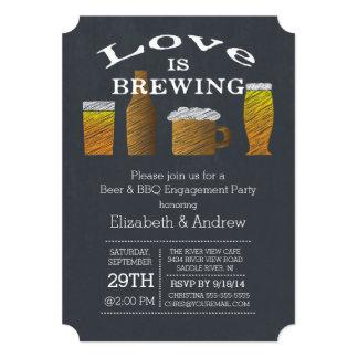 Invitation de partie de fiançailles de barbecue de carton d'invitation  12,7 cm x 17,78 cm