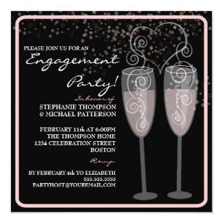 Invitation de partie de fiançailles de Champagne
