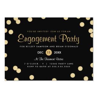 Invitation de partie de fiançailles de confettis carton d'invitation  12,7 cm x 17,78 cm