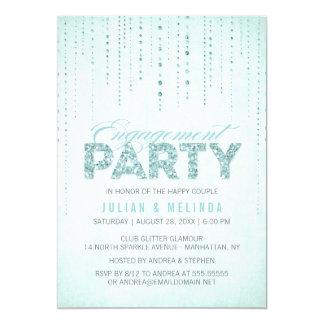 Invitation de partie de fiançailles de regard de carton d'invitation  12,7 cm x 17,78 cm
