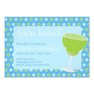 Invitation de partie de margarita carton d'invitation  12,7 cm x 17,78 cm