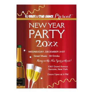 Invitation de partie de nouvelle année