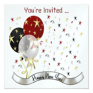 Invitation de partie de nouvelle année de la carton d'invitation  13,33 cm