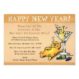 Invitation de partie de nouvelle année d'or de