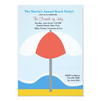 Invitation de partie de parapluie de plage
