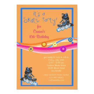 Invitation de partie de patin