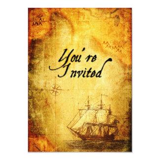 Invitation de partie de pirates sur la carte