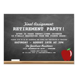 Invitation de partie de retraite de professeur