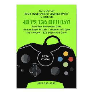 Invitation de partie de station de jeu vidéo carton d'invitation  12,7 cm x 17,78 cm