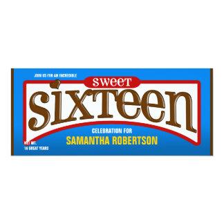 Invitation de partie de sweet sixteen de barre de