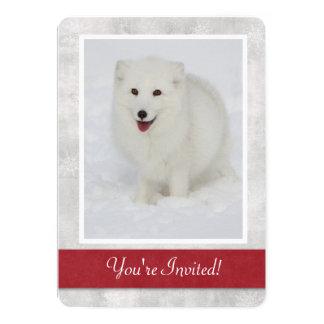 Invitation de partie d'hiver de Fox arctique