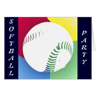 Invitation de partie du base-ball cartes de vœux