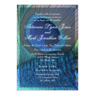 Invitation de plume de paon