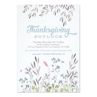 Invitation de Potluck de thanksgiving de nature