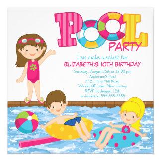 Invitation de réception au bord de la piscine d an