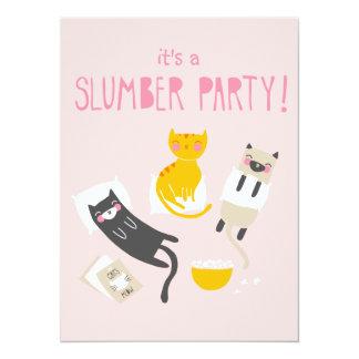 Invitation de soirée pyjamas de Kitty