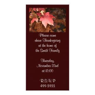 Invitation de thanksgiving cartes de vœux avec photo