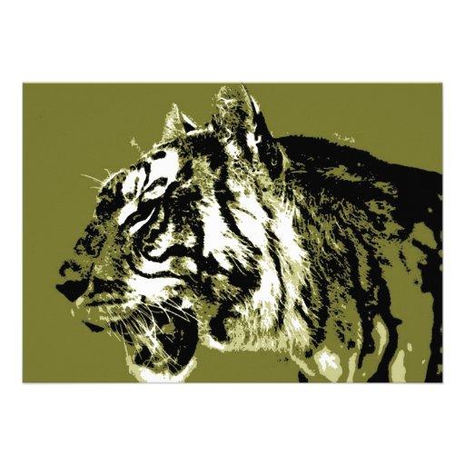 Invitation de tigre sibérien