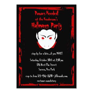 Invitation de vampire de partie de Halloween
