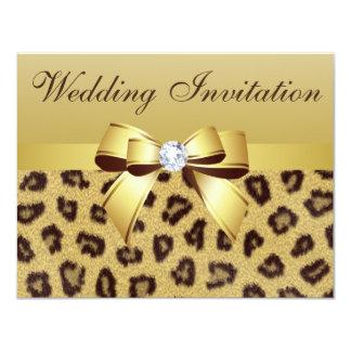 Invitation d'empreinte de léopard, d'arc et de