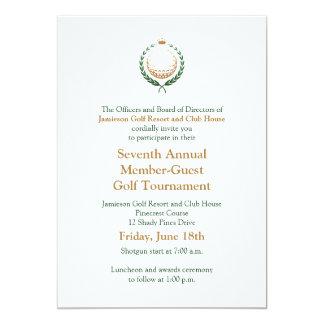 Invitation d'entreprise de tournoi de golf carton d'invitation  12,7 cm x 17,78 cm