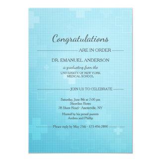 Invitation d'obtention du diplôme de croix de bleu