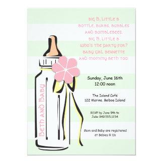 Invitation douce de douche de bouteille de bébé