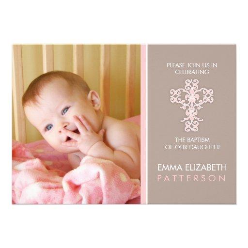 Invitation douce et moderne de bébé de baptême
