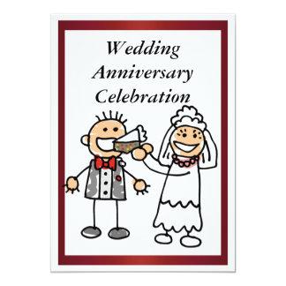 Invitation drôle d'anniversaire de mariage