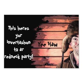 Invitation drôle de thème de partie de plouc