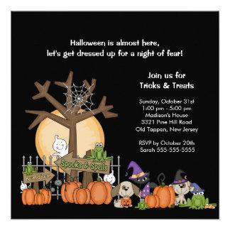 Invitation ÉFFRAYANTE de partie de Halloween de sc