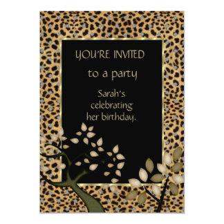 Invitation Elegant Leopard Tree Floral